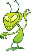 Mischievous green alien