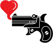 Pistol with bubble heart