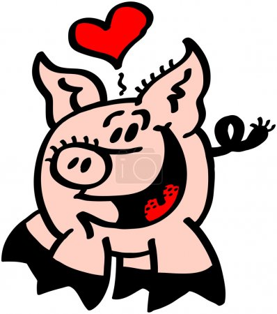 Heart floating above pigs head