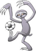 Sloth  playing with soccer ball