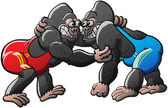 Two brave gorillas