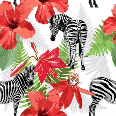 Illustration for Seamless pattern of zebras - Royalty Free Image