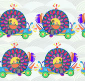 Vector illustration machine as snails