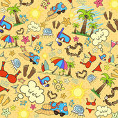 Vector background with summer holidays Illustration with the image attributes summer holiday