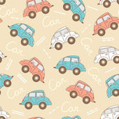 Vector pattern with cartoon cars for use in design