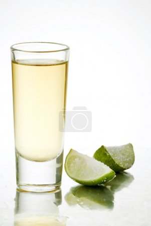 Photo for Tequila shot with salt and lime - Royalty Free Image