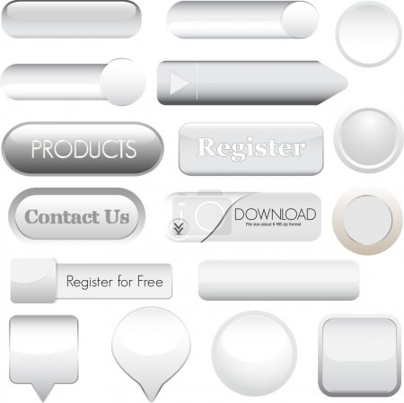 Illustration for Web buttons for website or app - Royalty Free Image