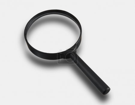 Magnifier isolated on light gray background