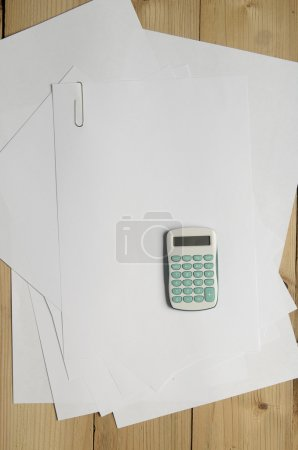Calculator and blank papers