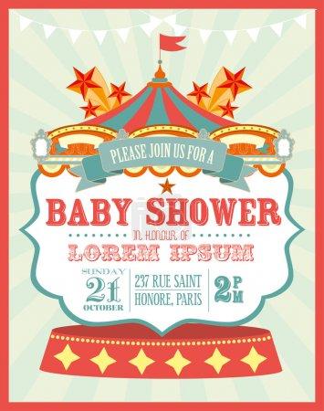 Carnival baby shower invitation card