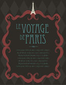 Vintage paris template illustration