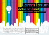 Rainbow building template