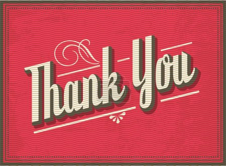 Illustration for Thank you greeting template,vector illustration - Royalty Free Image