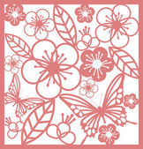 Vintage chinese paper cutting template