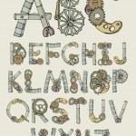 Mechanical font illustration...