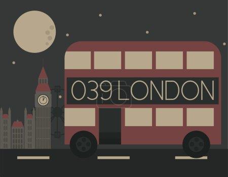 Double decker bus illustration...