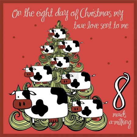 The 12 days of christmas - eight day - eight maids...