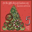The 12 days of christmas - fifth day - five golden...