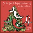 The 12 days of christmas - fourth day - four calli...