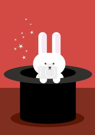 Rabbit in hat illustration...