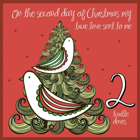The 12 days of christmas - second day - two turtle...