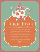Tea party invitation card