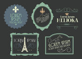 Vintage borders frames illustration