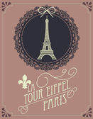 Vintage eiffel tower template illustration
