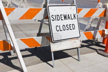 Sidewalk Close Sign