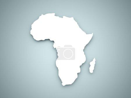 Photo pour Continent de l'Afrique sur la couleur bleue - image libre de droit