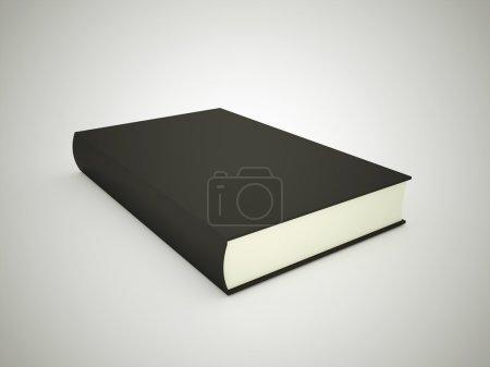 Photo pour Un livre noir rendu - image libre de droit