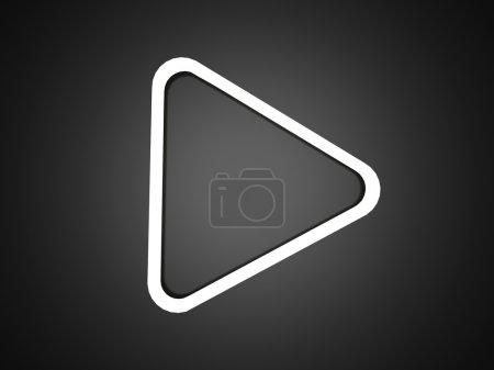 Photo pour Bouton de lecture élégant simple sur noir et blanc - image libre de droit