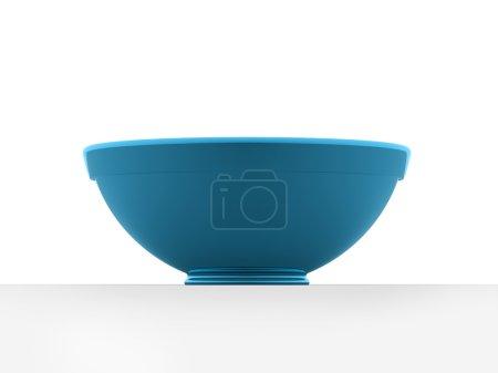 Photo pour Bol bleu isolé sur fond blanc - image libre de droit
