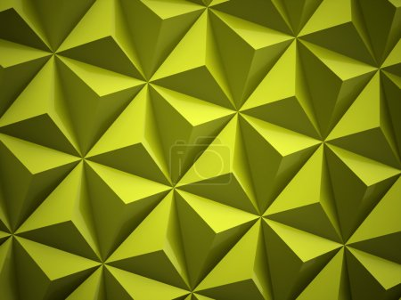 Photo for Green polygonal background rendered - Royalty Free Image