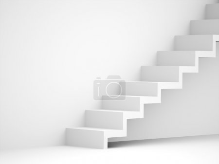 Photo for Stairs business concept rendered black and white - Royalty Free Image
