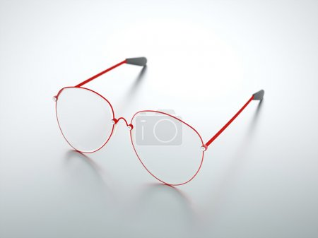 Photo for Red glasses eith reflection - Royalty Free Image