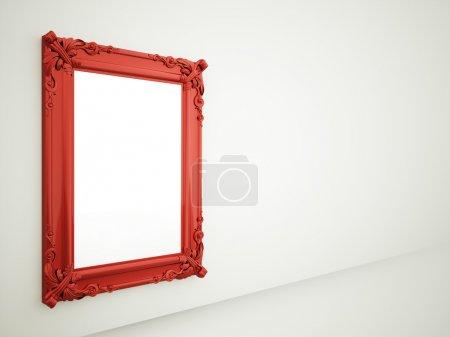 Red mirror frame rendered