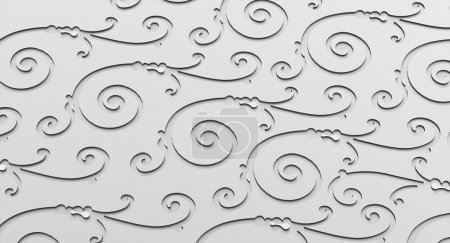 Photo for 3D ornamental texture silver - Royalty Free Image