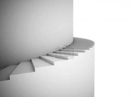 Spiral stairs rendered