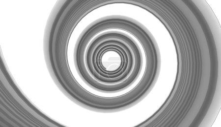 Black spiral rotation on white