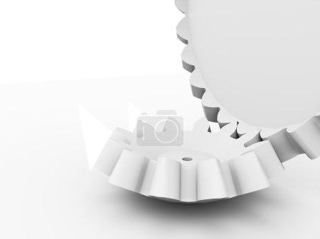 koncepcja dwóch kół zębatych