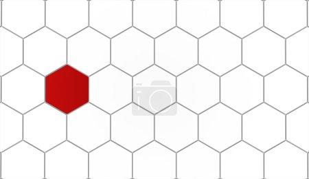 Hexagonal background concept