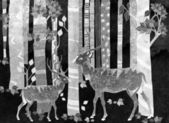 Dva jeleni v lese
