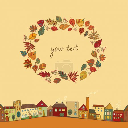 Illustration for Autumn postcard - Royalty Free Image