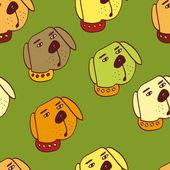 Dog vector background