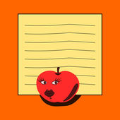 Note pad - red apple