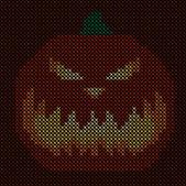 Knitting pattern pumpkin vector clip art