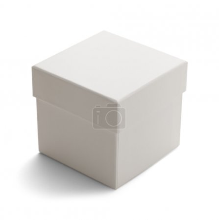 Photo for Closed cardboard box with lid Isolated on White Background. - Royalty Free Image