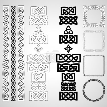 Set of Celtic knots, patterns, frameworks. Vector ...