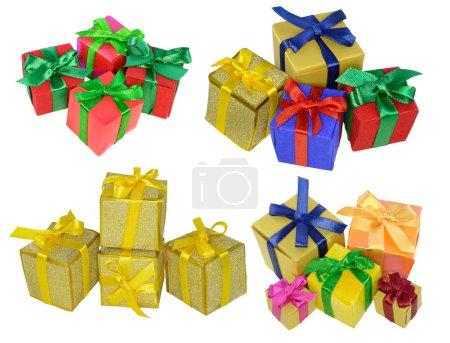 Photo pour Collection isolée de petits cadeaux colorés - image libre de droit